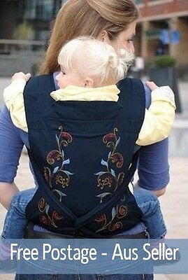NEW Mei Tai Baby Infant Toddler 3-in-1 Carrier Sling Backpack, Vine Design