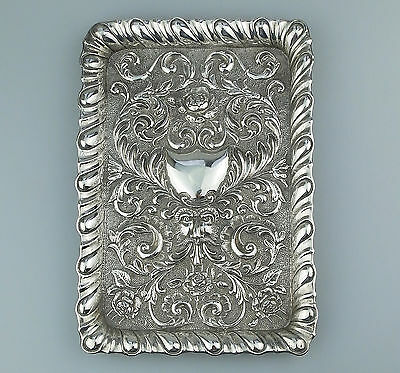 Antique solid silver :  A large quality Dressing Table Tray Chester C.1901
