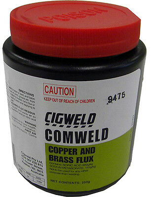 Brazing Flux - CIGWELD Comweld Copper & Brass Flux - 250 gram 321822