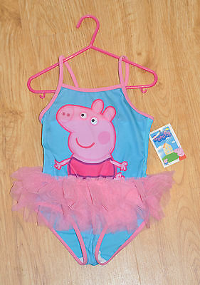 NEW Peppa Pig Ballerina - 1pc Swimmers, Swimsuit with Tutu - Multiple Sizes
