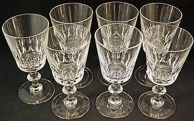 HAWKES MONTCLAIR BORDER CUT CRYSTAL STEMWARE All Signed foot 6 Water Goblets