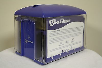NEW Xpressnap Commercial Tabletop Napkin Dispenser Blue Ad a Glance