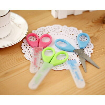 Fashion Stationery Student Children Craft Protective Sleeve Safety Scissors