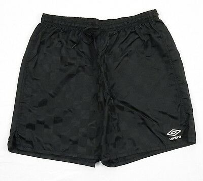Umbro Black Check Soccer Futbol Shorts YOUTH Unisex XL