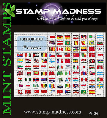 WORLD Flags of the World Stamps from bulk buy