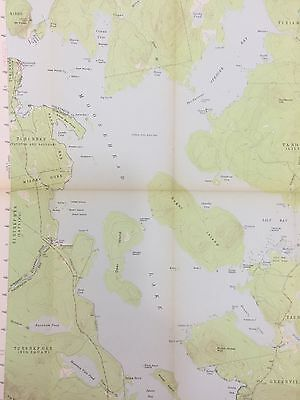 VTG 1957 State Of Maine USGS TOPOGRAPHICAL MAP MOOSEHEAD LAKE GREENVILLE  ME