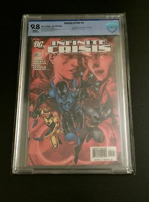 INFINITE CRISIS # 5 JIM LEE VARIANT CBCS 9.8 1st JAMIE REYES as BLUE BEETLE DC