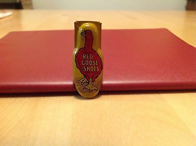 Vintage Red Goose Shoes Advertising Tin Clicker Noisemaker