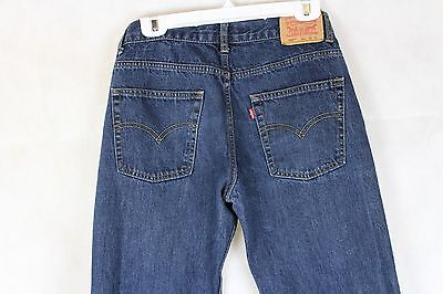 EUC Boys' Levi's 550 Relaxed Fit Straight Leg Dark Wash Jeans Size 16R(28x28)