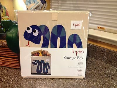 "New 3 Sprouts Multi Purpose Storage Box Cube - Snake - for 13"" Shelving Units"