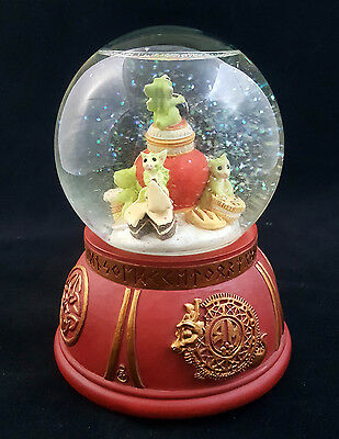 "Pocket Dragons ""Cookie Jar"" Snow Globe Music Box by Real Musgrave 1999"