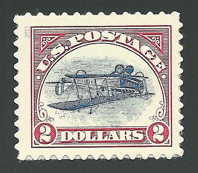 2013 Inverted Curtiss Jenny Biplane C3a Design $2 Commemorative Stamp MINT 4806a
