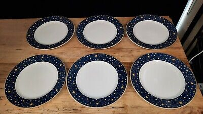 Galaxy Dinner Plate Vitromaster Yellow Sun Moon & Stars Stoneware