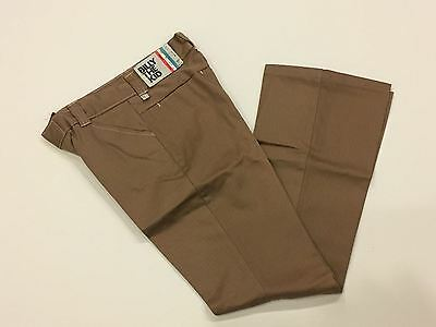 Vintage Billy The Kid Pants Brown Cotton Bells Flares bottom 12 slim  NWT
