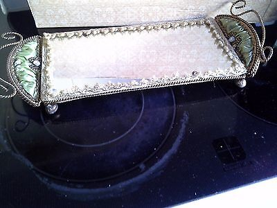 Elaborate Mirrored Dressing Table Tray
