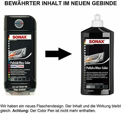 SONAX Polish & Wax COLOR Nano Pro BLACK 250ml new car polishing 296141 FREE SHIP