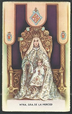 Postal antigua de la Virgen de la Merced santino holy card image pieuse