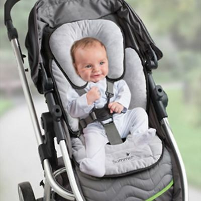 Summer Infant 2 In 1 Piddle pad Baby Head Body Support Pram Stroller Liner