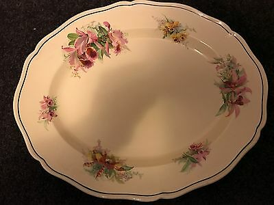 "Royal Doulton ""Orchid""  Oval Serving Platter Large D5215 HOPPERS CROSSING"