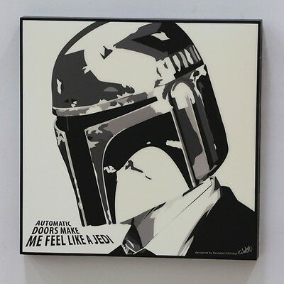 Boba Fett Star Wars ❤️ POP ART canvas quotes wall decal painting framed poster