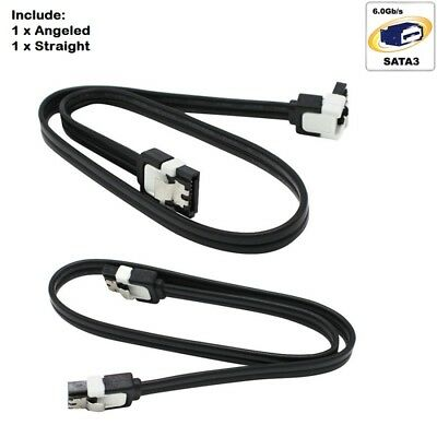 2x ASUS SATA 3 III 3.0 Data Cable 6Gbps ASUS ORIGINAL with Angle and Lead Clip