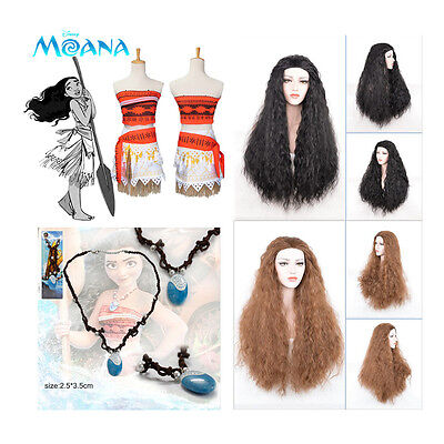 Cosplay Costume Disney Moana Princess Figures&Wigs Cosplay Party Outfit Hallowen