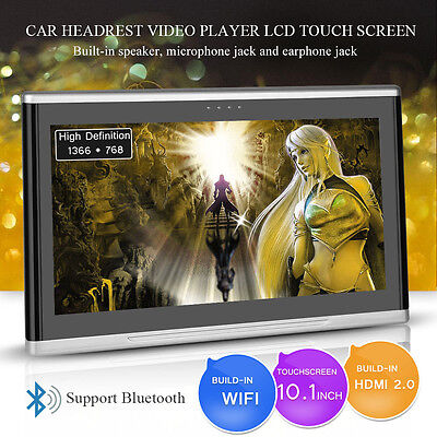 "10.1"" Android 6.0 Car Headrest DDR4 2G/8G Monitor Touch Screen Video Player"
