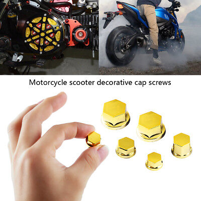 30x Universal Motorcycle Bike Fairing Bolt Kit Body Screw Nut Cap Cover Colorful