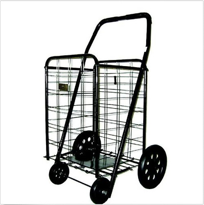 Folding Cart For Grocery Shopping On Wheel Laundry Travel Convenience Basket NEW