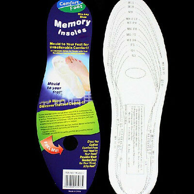 Unisexe Pair Memory Foam Insoles Chaussures1Size Fit Cushion Foot Pad Heel Shock