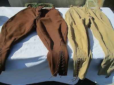 lot de 2 pantalons de cheval ancien.