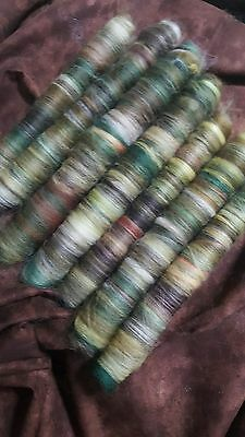 100Gr Handmade Wool Rolags  Warm Autumn  Blends Spinning Felting Fibre Art