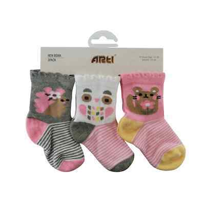 Baby Girls Socks size 0-6 months - 3 Pack