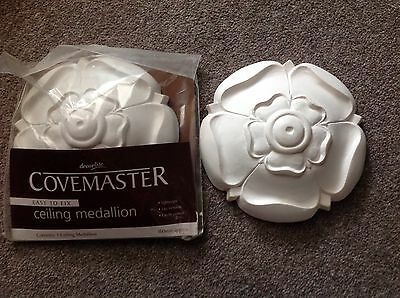 Pair Covemaster Ceiling Medallion Rose lightweight easy to fix. NEW 160mm approx