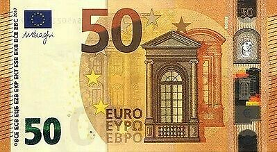 NEW DESIGN - EUROPEAN UNION - SPAIN - 50 EURO - 2017 - UNC (Draghi Serie)