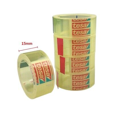 5 x Tesa Tesafilm® transparent Nr. 57370, 15 mm x 10 m