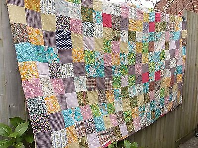 Vintage Quilt patchwork 78 inch x 46 inch approx
