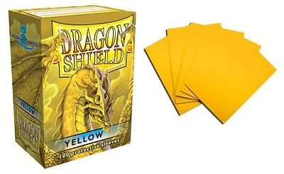 Dragon Shield - Yellow 100 protective Sleeves Cases Standard Card holder