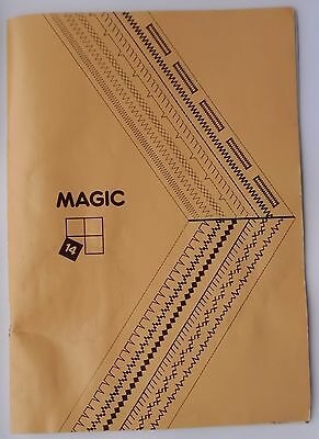 Original SINGER Magic 14 Instruction Sewing Machine Manual