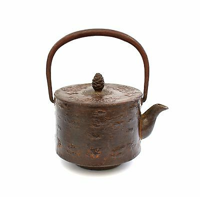 Japanese Antique Nambu Iron Kettle Small Tetsubin Teapot  Marked Nambu Original
