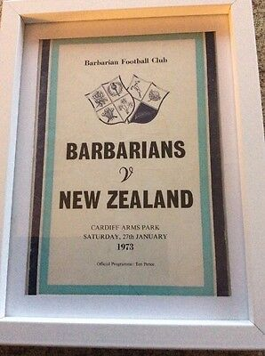 Barbarians V New Zealand 1973 Programme Rare
