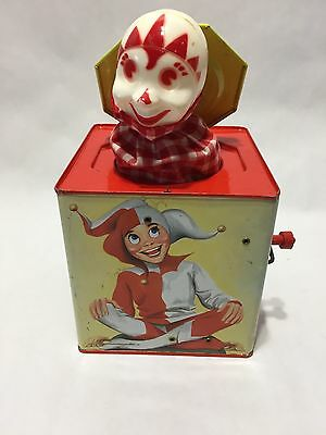 Vintage 1960's Toy Jack In The Box - Lorraine Novelty Mfg. Co. Inc.