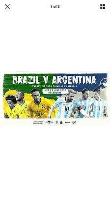 Brazil Vs Argentina Platinum Tickets For 2