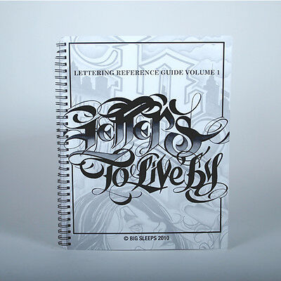 Original LETTERS TO LIVE BY VOLUME 1 Design Tattoo Flash Book Big Sleeps NORM