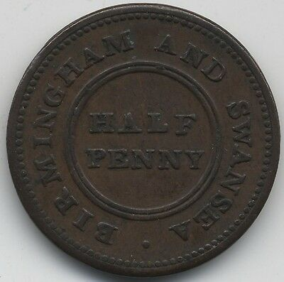 1811 Birmingham & Swansea Rose Copper Company Halfpenny Token***Collectors***