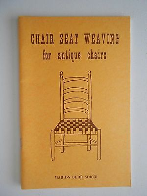 Chair Seat Weaving for Antique Chairs by Sober, 1968