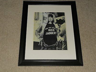 "Rolling Stones Keith Richards F--- Mick Jagger 1972 Picture Framed Print 14""x17"""