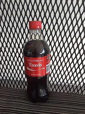 Travis Share A Coke 2015 Personalized 20 Oz Coca-Cola Pop Bottle