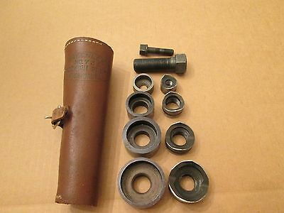 """GREENLEE No. 735 Knockout Punch Set With Leather Case, 1/2"""" 3/4"""" 1"""" 1-1/4"""""""