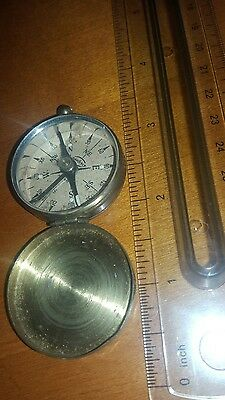 "Vintage German ""wanderer"" Brass Compass With Lock Mechanism Germany"
